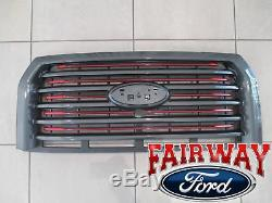 15 thru 17 F-150 OEM Ford Lariat Special Edition Red Accent Grille Grill CAMERA
