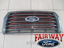 15 thru 17 F-150 OEM Ford Special Edition Red Accent Grille Grill with Emblem