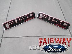 15 thru 19 F-150 OEM Ford Special Edition RED Fender Emblem Nameplate Set LARIAT