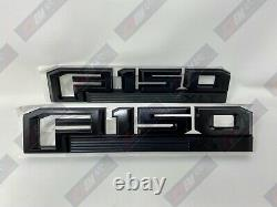 15 thru 20 F-150 OEM Ford Black Special Edition Fender Emblem Nameplate Set XLT