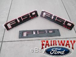 15 thru 20 F-150 OEM Ford Special Edition RED Fender & Tail Gate Emblem Set XLT