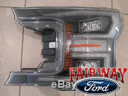 18 thru 20 F-150 OEM Ford Black Special Edition LED Head Lamps Lights PAIR NEW