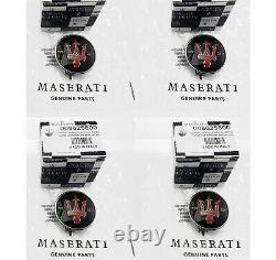 1957-2017 MASERATI SPECIAL EDITION WHEEL CENTER CAPS 5800 SET OF 4 44mm