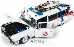1959 Cadillac Ambulance Ecto 1 Ghostbusters 1 Movie 1/18 By Autoworld Awss118