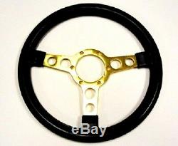 1970 1981 TRANS AM SE STEERING WHEEL BLACK With GOLD SPOKES SPECIAL EDITION