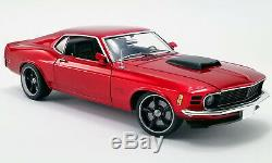 1970 Ford Mustang Boss 429 Street Fighter Candy Red Vintage Gmp Car 118 Acme