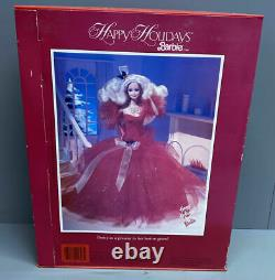 1988 HOLIDAY BARBIE MIB 1st Special Edition Christmas Mattel Doll Red Vintage