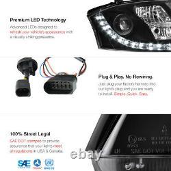 1999-2006 Audi TT Coupe Convertible Quattro Black LED DRL Projector Headlights