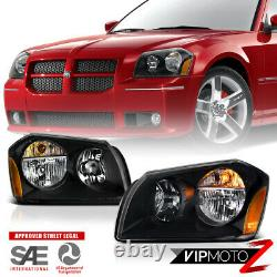 2005-2007 Dodge Magnum SE SRT SXT RT Black Front Headlights Assembly LEFT+RIGHT