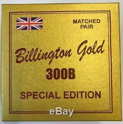 300B Billington Gold Special Edition matched pair 2 pieces NOS tube valve