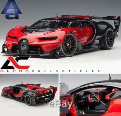 Autoart 70988 118 Bugatti Vision Gran Turismo #16 Red/black Carbon Supercar