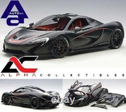 Autoart 76027 118 Mclaren P1 (matt Black / Red) Supercar