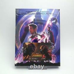 Avengers Infinity War 4K UHD + 2D & 3D Blu-ray Steelbook Lenticular B1 / WeET