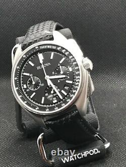 Bulova 96B251 Moon Apollo Lunar Pilot Special Edition Men Watch Black