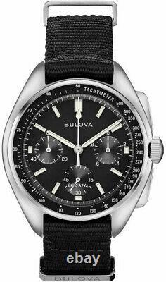 Bulova Special Edition Moon Apollo Lunar Pilot Chronograph Mens Watch 96A225