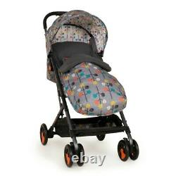 Cosatto Woosh Special Edition Stroller with Footmuff Pom Pom Grey Compact fold