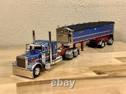 Dcp 1/64 Peterbilt 379 Mac Spread Axle Dump Semi Truck Tractor Trailer Farm Toy