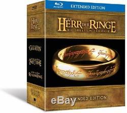Der Herr der Ringe Die Spielfilm Trilogie Extended Edition Blu-ray Box Set Neu