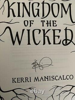Fairyloot Signed 1st Edition Kingdom of the Wicked by Kerri Maniscalco