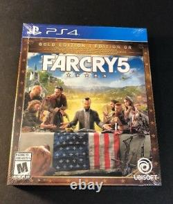 Far Cry 5 GOLD Edition Game + Season Pass + STEELBOOK Package (PS4) NEW