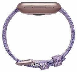 Fitbit Versa Special Edition Smart Watch Lavender Woven / Rose Gold Aluminium