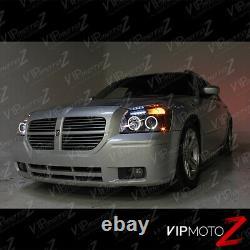 For 05-07 Dodge MAGNUM Halo Angel Eye LED Projector Black Headlight Signal Lamp