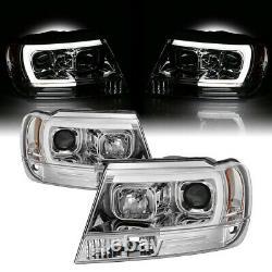 For 99-04 Jeep Gand Cherokee WJ U-Bar Neon LED DRL Projector Headlight Lamp