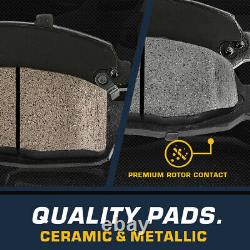 Front Drilled Brake Rotors and Ceramic Pads For Chevy Tahoe Silverado GMC Sierra