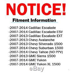 Front & Rear Brake Rotors + Ceramic Pads 2007-2014 Chevy Tahoe GMC Sierra 1500