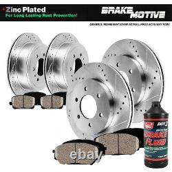Front+Rear Brake Rotors & Ceramic Pads For 2008 2009 2014 Chevy Tahoe Police