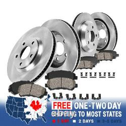 Front+Rear Rotors Ceramic Pads For 1999 2000 2001 2002 2003 2004 Grand Cherokee