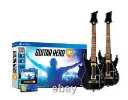 Guitar Hero Live inkl. 2x Gitarre für Playstation 4 PS4 Bundle NEUWARE