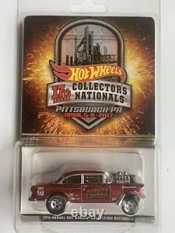 Hot Wheels 17th Collectors Nationals Wicked Gasser 55 Chevy Bel Air 1166/2800
