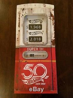 Hot Wheels 2018 Super Treasure Hunt Set RLC withUltimate Bone Shaker #644/1200 NEW