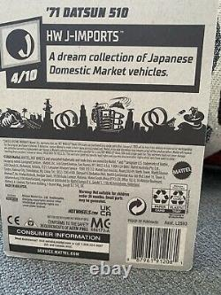 Hot Wheels 2021 Super Treasure Hunt Datsun 510 Color Variation NEW Pair TH