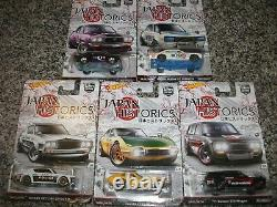 Hot Wheels Car Culture Japan Historics 1 Set Of 5 Datsun Skyline Mazda Toyota