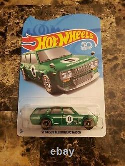 Hot Wheels Legends Tour Green Datsun 510 Wagon