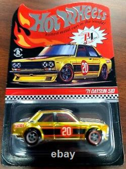 Hot Wheels RLC Exclusive'71 Datsun 510 Race Day/Membership/Track Day (Lot of 6)