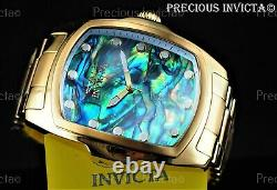Invicta Men's 47mm SPECIAL EDITION GRAND LUPAH Abalone Dial Gold Tone SS Watch