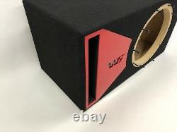 JL Audio 10W6v3 ported subwoofer box, SPECIAL EDITION with red plexi port trim