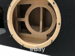 JL Audio 12W6v3 ported subwoofer box SPECIAL EDITION with black plexi port trim