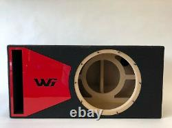 JL Audio 12W6v3 ported subwoofer box SPECIAL EDITION with red plexi port trim