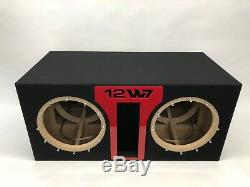 JL Audio 12W7 AE dual ported sub box SPECIAL EDITION with red plexi port trim