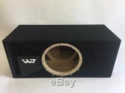 JL Audio 12W7 AE ported sub box SPECIAL EDITION with black plexi port trim
