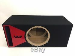 JL Audio 12W7 AE ported sub box SPECIAL EDITION with red plexi port trim