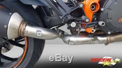 KTM 1290 SUPERDUKE R 2017-2019 De-Cat Pipe Eliminator Exhaust PLUG AND PLAY