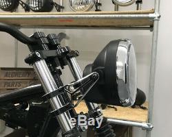 LED Motorcycle 7 Headlight 12V Retro Cafe Racer Streetfighter Project Black