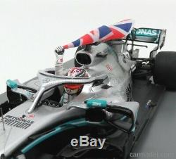 Lewis Hamilton 2019 Mercedes AMG W10 WithFlag Winner British GP 118 By Spark