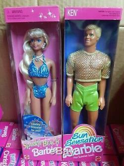 Lot Of 56 Barbie Dolls Collectibles 1990s Mattel 1995 Sparkle Beach Twist Hair