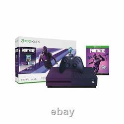 Microsoft Xbox One S 1TB Console Fortnite Special Edition Bundle XBONE Purple